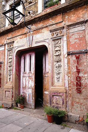 Wilton's Music Hall - The entrance to Wilton's Music Hall on Graces Alley