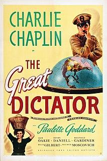 <i>The Great Dictator</i> 1940 Charlie Chaplins comedy film satirizing fascism