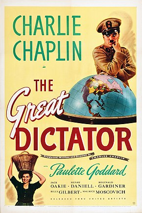 Description de l'image The Great Dictator (1940) poster.jpg.