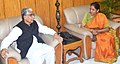 The Minister of State for Commerce & Industry (Independent Charge), Smt. Nirmala Sitharaman meeting the Chief Minister of Tripura, Shri Manik Sarkar, in Agartala on January 05, 2016.jpg