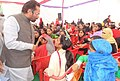 The Minister of State for Minority Affairs (Independent Charge) and Parliamentary Affairs, Shri Mukhtar Abbas Naqvi interacting with the students at the JITM Skill Training Centre, in Jaspur, Udham Singh Nagar, Uttarakhand.jpg