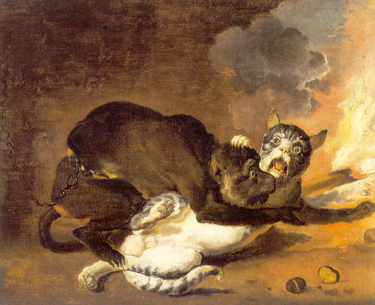 French Cats Playing Patty Cakes