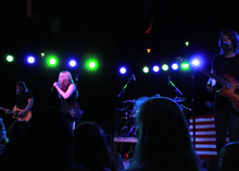 Ryan performing with The Never Ending, in 2014