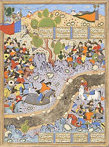 The Night Attack of Bahram Chubina on the Army of Khusraw Parvis LACMA M.2009.44.3 (6 of 8).jpg