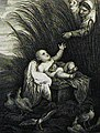 The Phillip Medhurst Picture Torah 279. Moses in the bulrushes. Exodus cap 2 v 3. Vandyck.jpg