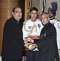 The President, Shri Pranab Mukherjee presenting the Padma Bhushan Award to Dr. D. Ramanaidu, at an Investiture Ceremony, at Rashtrapati Bhavan, in New Delhi on April 05, 2013.jpg