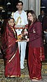 The President, Smt. Pratibha Devisingh Patil presenting the Arjuna Award for the year-2011 to Ms. Jwala Gutta for Badminton, in a glittering ceremony, at Rashtrapati Bhavan, in New Delhi on August 29, 2011.jpg