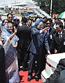 The Prime Minister, Dr. Manmohan Singh arrived at Hazrat Shahjalal International Airport, in Dhaka, Bangladesh on September 06, 2011. The Prime Minister of Bangladesh, Mrs. Sheikh Hasina is also seen.jpg