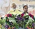The Prime Minister, Shri Narendra Modi addressing the gathering at Abdul Kalam Technical University, in Lucknow, Uttar Pradesh on June 20, 2017 (1).jpg