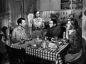The Red House (film) - Lon McCallister, Allene Roberts, Edward G. Robinson and Judith Anderson in The Red House