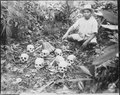 The Tapel Massacre on 1 July 1945. Picture shows Pedro Cerono, the man who discovered the group of 8 skulls. Tapel... - NARA - 531327.tif