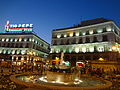 The Tio Pepe Neon Advertisment at Puerta del Sol in Madrid, Spain ' photographed at Sunset.JPG