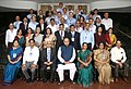The Union Minister for Finance, Corporate Affairs and Defence, Shri Arun Jaitley with the Revenue Secretary, Shri Shaktikanta Das, Chairperson and Members of CBEC.jpg
