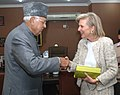 The Union Minister for New and Renewable Energy, Dr. Farooq Abdullah meeting the Princess Astrid of Belgium, in New Delhi on November 25, 2013.jpg