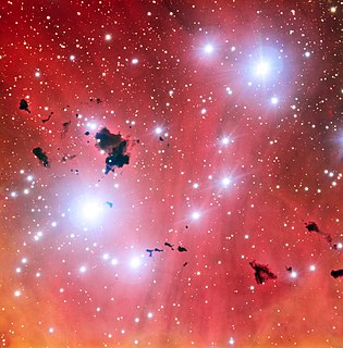 IC 2944 H II region and open cluster in the constellation Centaurus