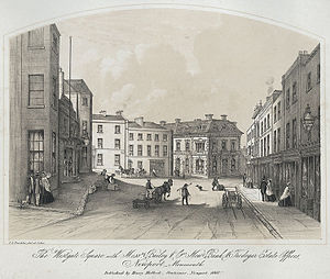 Newport, Wales - The Westgate Square Newport, 1860