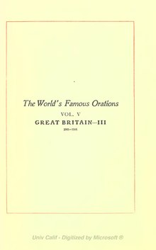 The World's Famous Orations Volume 5.djvu