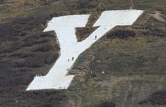 Y Mountain - Hikers examining the Y