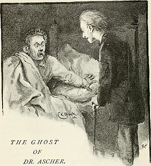 Saul Ascher - Illustration by C. E. Brock for The Ghost of Dr. Ascher as depicted in The humour of Germany (1909)