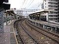 The platform of Mikage Station on the Hanshin Main Line 01.jpg