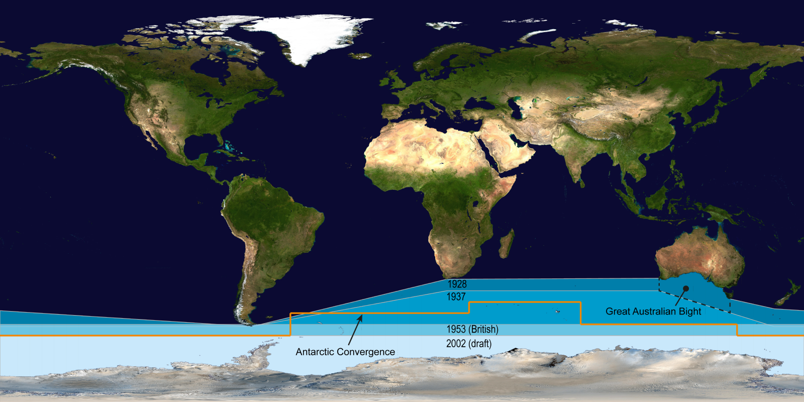 The International Hydrographic Organizations Delineation Of Southern Ocean Has Moved Steadily Southwards Since