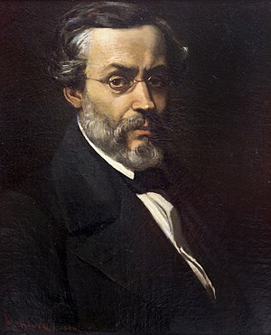 Cezar Bolliac - Portrait by Theodor Aman