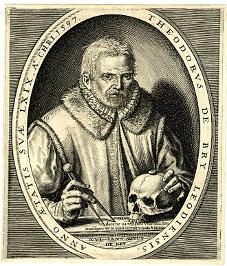Theodor de Bry - Image: Theodor de Bry self portrait 1597