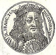 Teodorico IV dal prontuario di figure di personaggi insigni di Guillaume Rouillé
