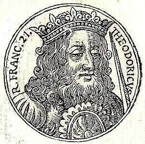 Theuderic IV - Theuderic IV from Guillaume Rouillé's Promptuarii Iconum Insigniorum