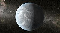 This artist's concept depicts Kepler-62e, a super-Earth-size planet in the habitable zone.jpg