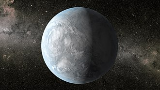 Kepler-62e - Image: This artist's concept depicts Kepler 62e, a super Earth size planet in the habitable zone