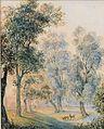 Thomas Ender (attr) Parklandschaft mit Rotwild.jpg