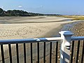 Tidal Suites at the Norseman Resort - people walk on river bed at low tide IMG 2490 FRD.jpg