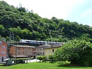 Magadino - Train line near Magadino