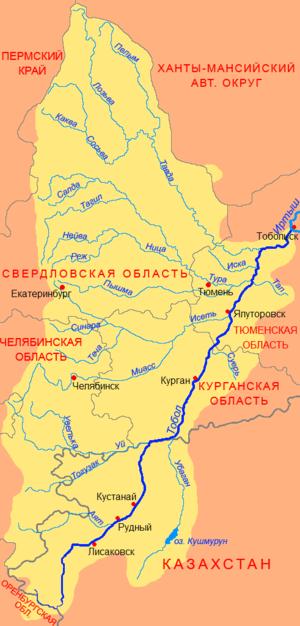 Techa River - Tobol basin
