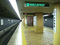 Toei-E05-Ushigome-kagurazaka-station-platform.jpg