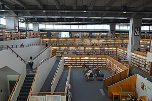 Tokamachi Information Hall north side bookshelves ac (4).jpg