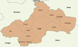 Tokat location districts.png