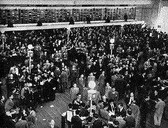 Tokyo Stock Exchange - Image: Tokyo Stock Exchange 1950