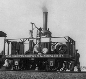 Tom Thumb (locomotive) - The Tom Thumb replica in action.