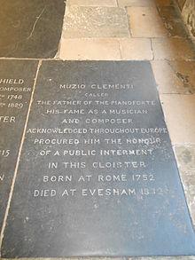 Muzio Clementis Grabstein in der Westminster Abbey (Quelle: Wikimedia)