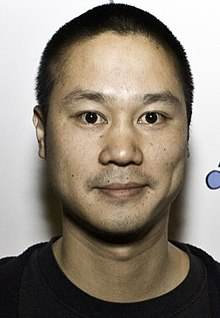 Hsieh's Zappos identity badge in 2009