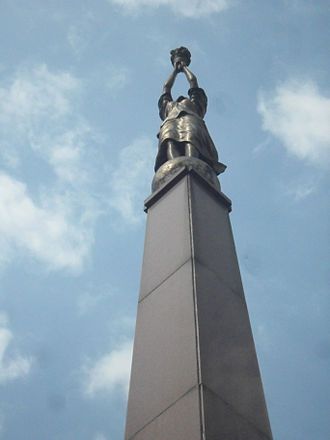 Plaza Miranda - The top of the Obelisk in Plaza Miranda.