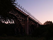 Prince Edward Viaduct at sunset