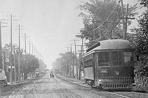 Metropolitan Street Railway (Toronto) - Metropolitan line on Yonge Street at Sherwood Avenue looking south (1912)