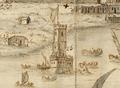Torre de Belém - Vista e perspectiva da Barra, Costa e Cidade de Lisboa (Bernardo de Caula, 1763).png