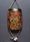 Toryu - Inro with Autumn Carnations and Badger Netsuke - Walters 67425.jpg