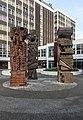 Totem statues, Salford University.jpg