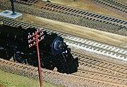 A toy train.