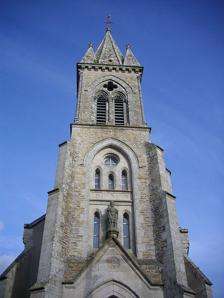 Bell tower of the church of Trédion (Morbihan, France)